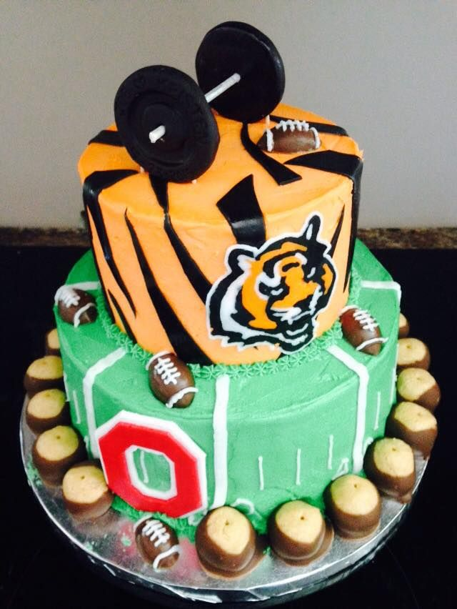 Cincinnati Bengals Ohio State Buckeyes Football Grooms Cake by