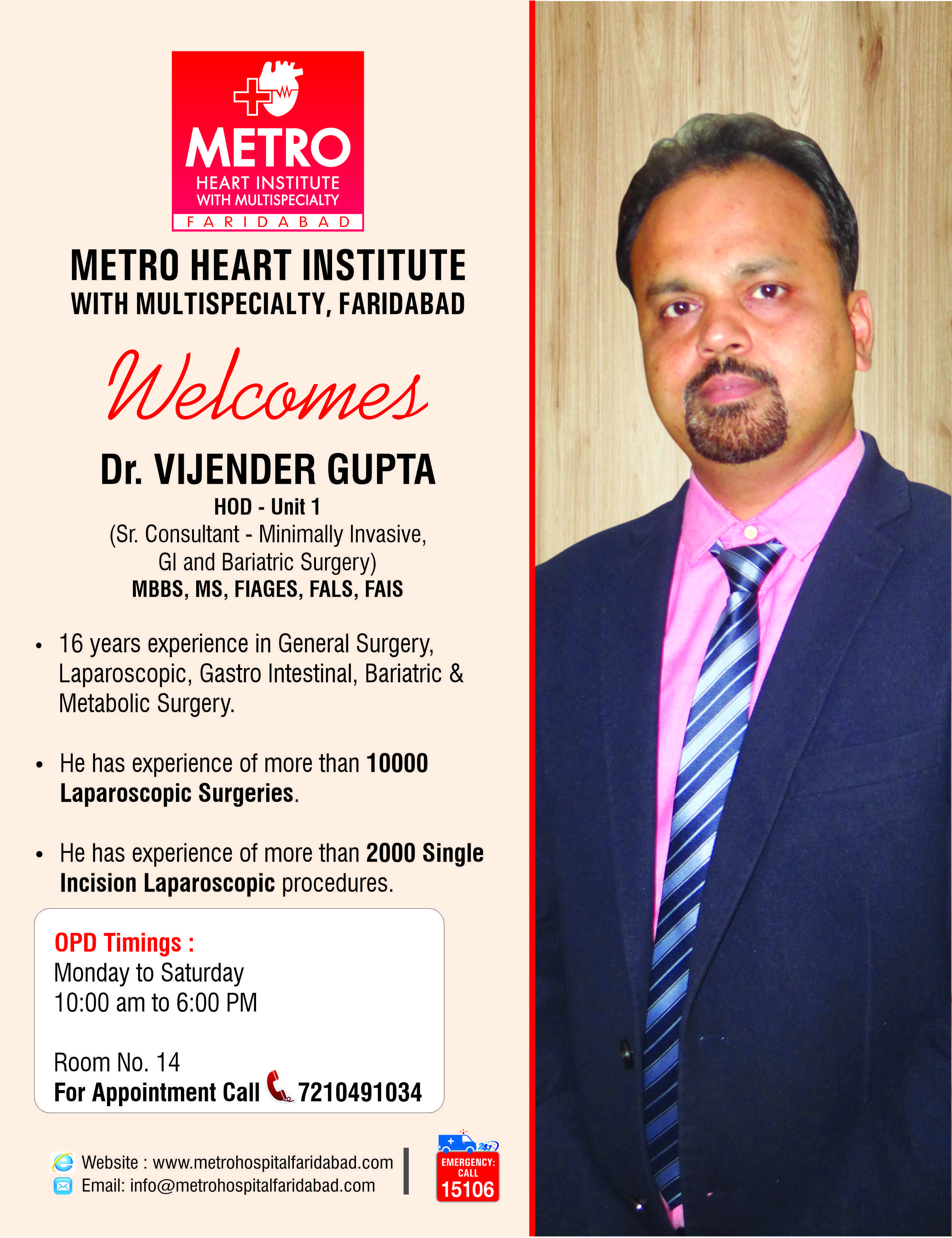 MetroHospitalFaridabad laparoscopic_surgeon bariatric