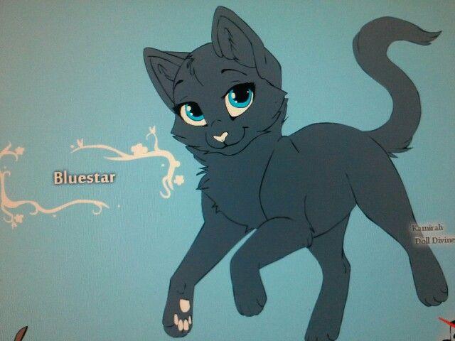 Bluestar Warrior Cats Cat Coloring Page Warrior