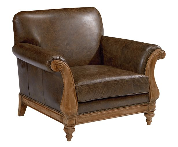 With Its Carved Wood Trim And Turned Legs Webster Avenue Chair Has
