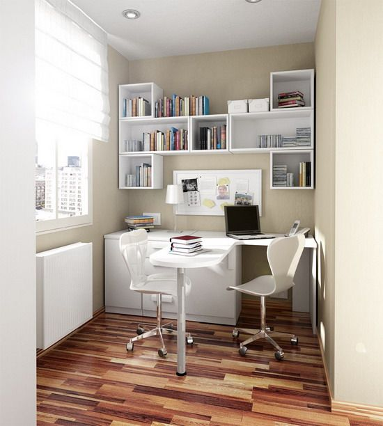 small house wall color choices - Small Home Office Design