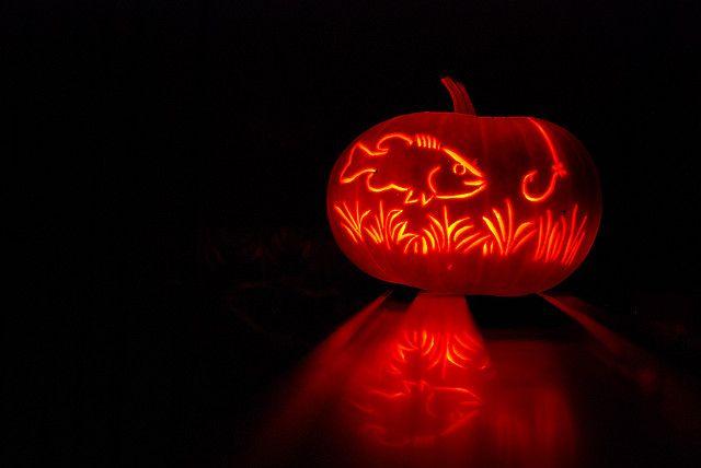 Pumpkin Fish Halloween Pumpkin Stencils Pumpkin Carving Pumpkin Halloween Decorations