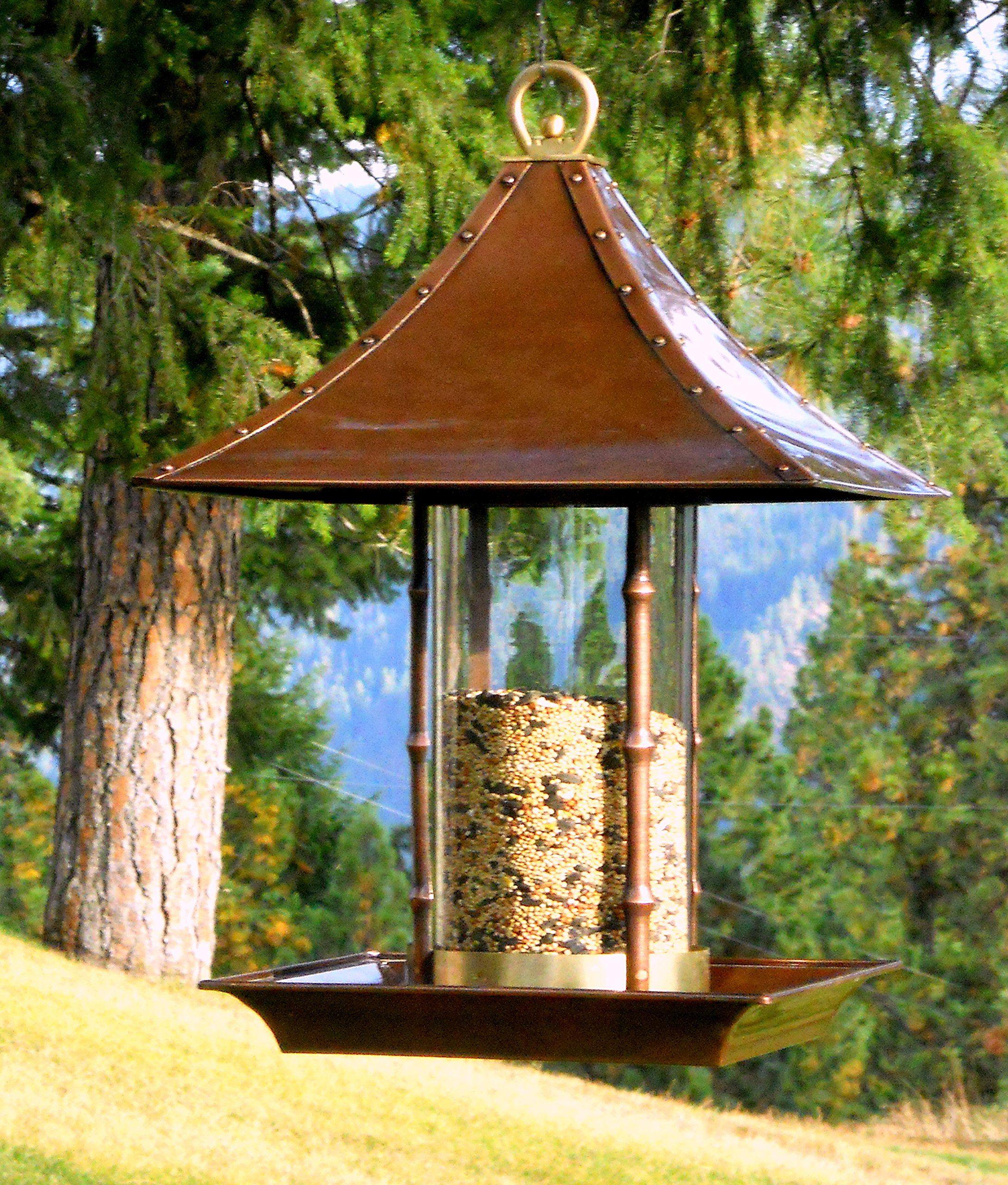 h potter large bamboo wild bird feeder ideas for a backyard