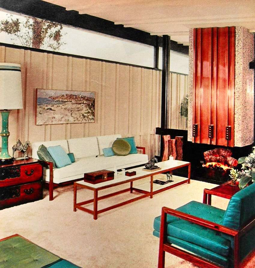 Best 1960S Modern Clean Lines Bold Color Aqua White Vintage 400 x 300