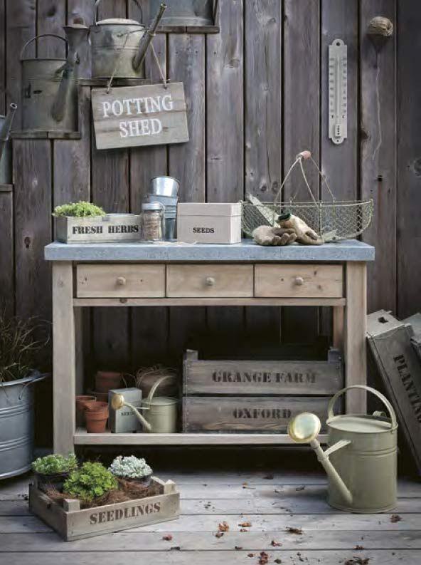 Pflanztische Und Gartnertische Diy Garden Projects Potting Bench