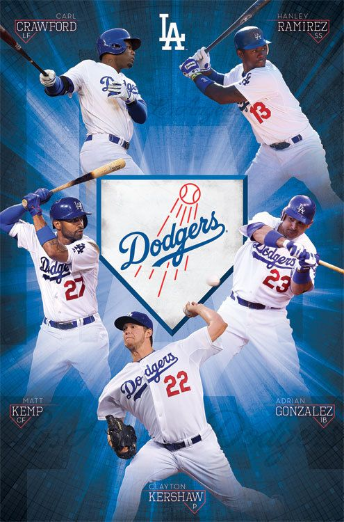 Mlb La Los Angeles Dodgers Team Poster With Images Dodgers La