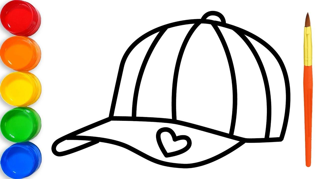 How To Draw Hat With Glitter Colors For Kids Colors For Kids Coloring For Kids Draw For Kids