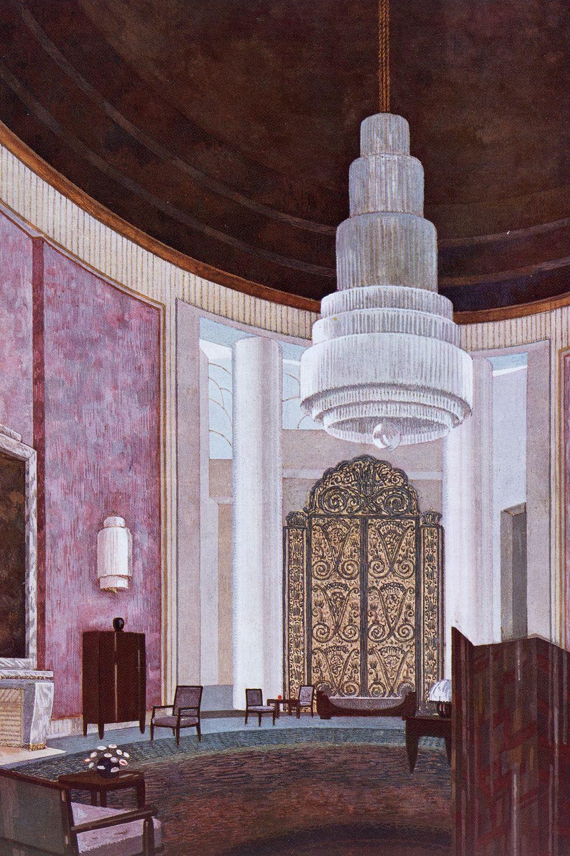 Grand Salon, Hôtel du Collectionneur, Plate IV from 'L`Hotel du Collectionneur by Groupe ...