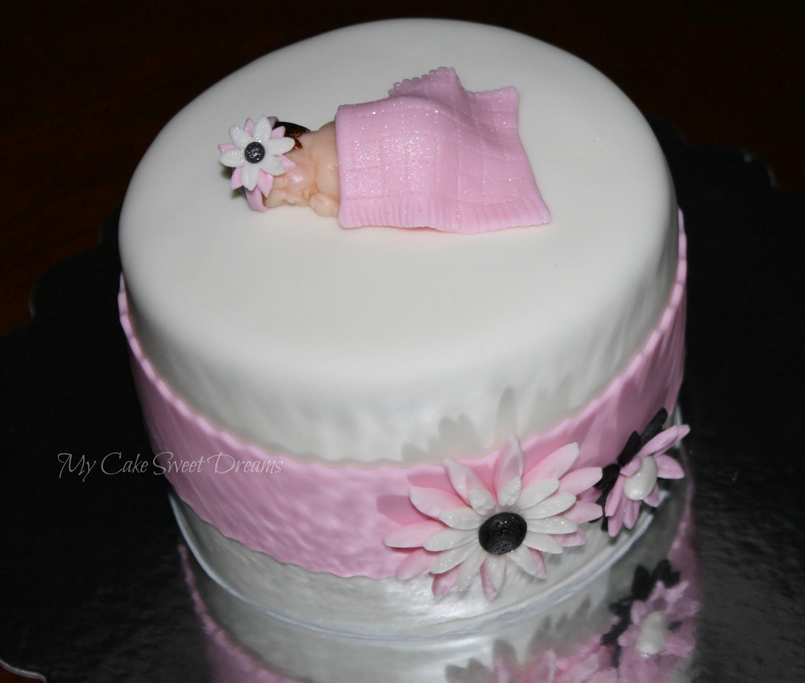 cute baby girl shower cakes