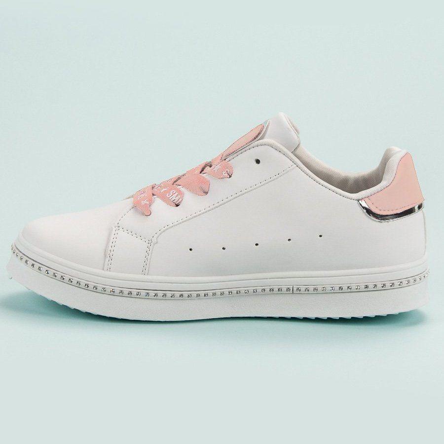 Sznurowane Obuwie Sportowe Biale Adidas Sneakers Adidas Stan Smith Sneakers