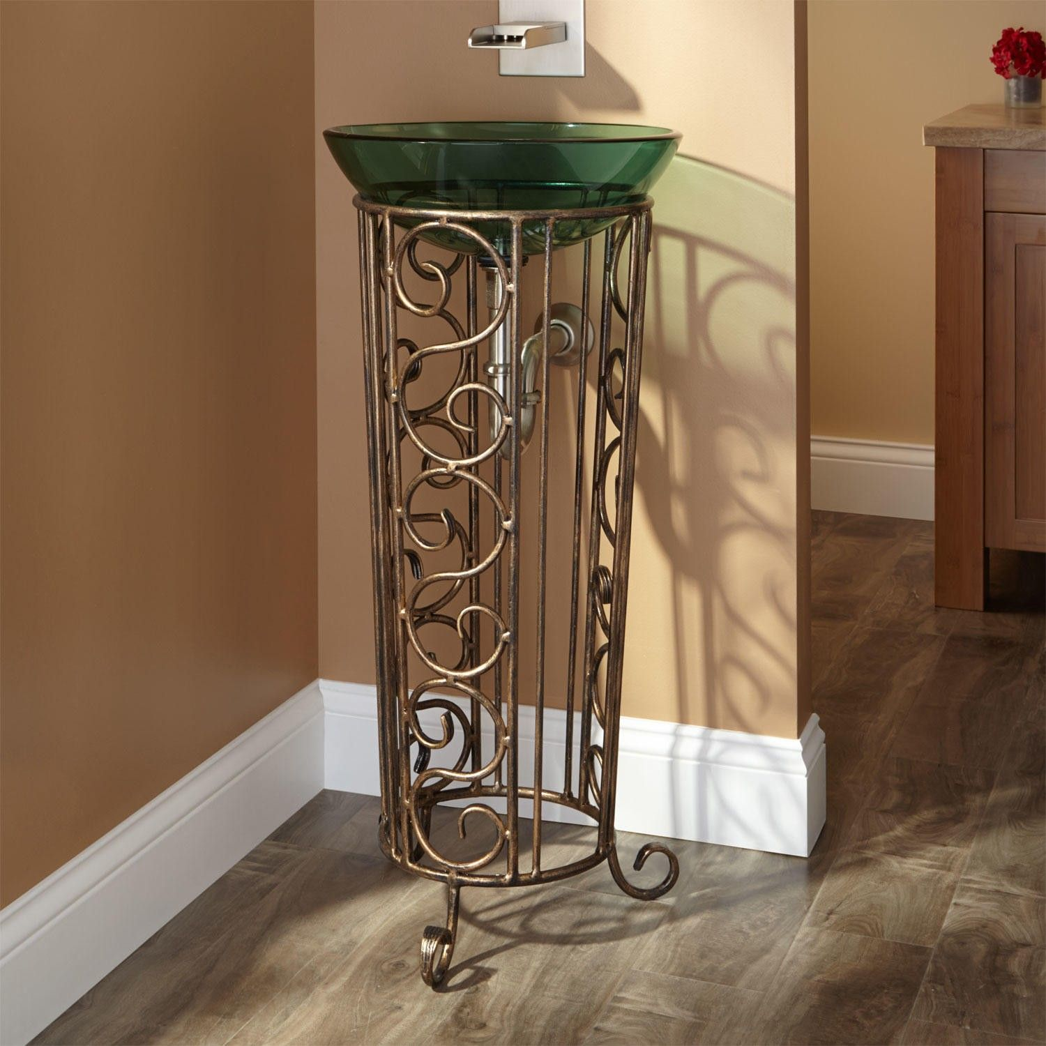 Rouleau Wrought Iron Vessel Sink Stand