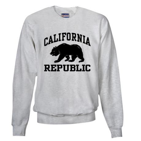 California Republic. Omg I don't care if this is a men's sweatshirt I want it so bad!!!!!!!!!!!!!!!