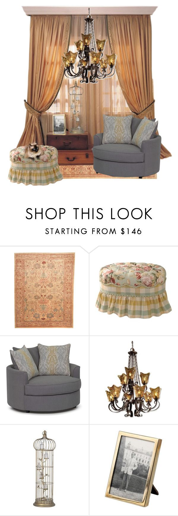"""""""Drab room"""" by sherrysrosecottage-1 ❤ liked on Polyvore featuring interior, interiors, interior design, home, home decor, interior decorating, Herat Oriental, Warehouse, Uttermost and Tiffany & Co."""