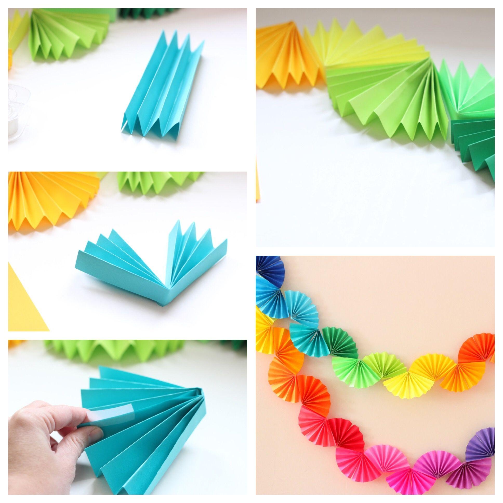 Paper Garland Idea #garland #partydecor #party #garlandofflowers