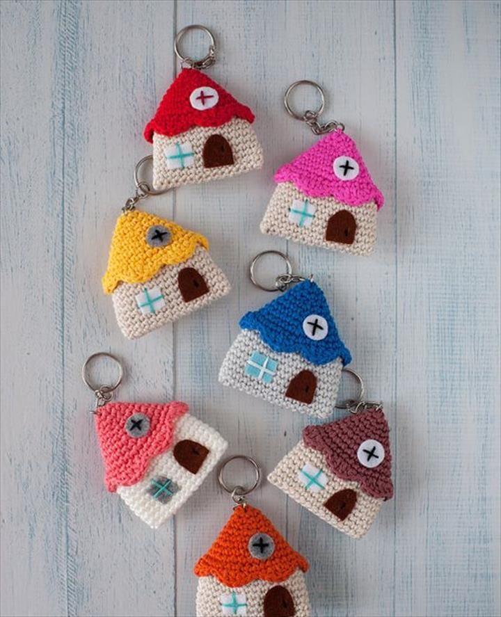 62 Easy Handmade Fun Crochet Pattern Keychains Crochet Tips