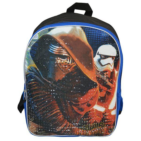 Star Wars Episode 7 Blue Backpack 16in