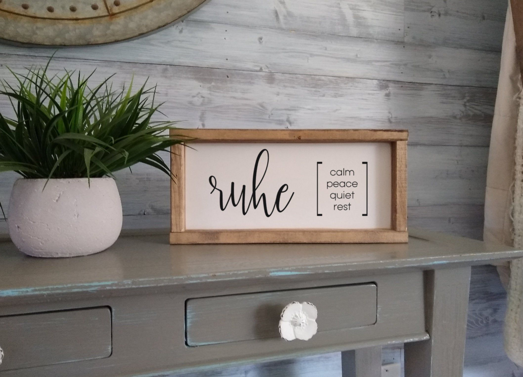 Ruhe Sign, German sign, Deutch, home and living, Germany