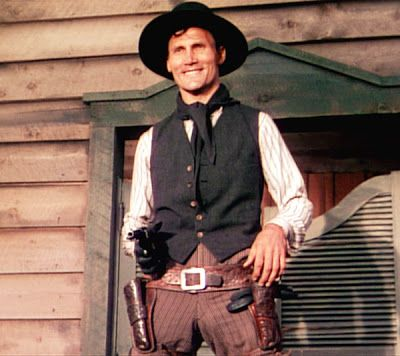 "Jack Palance as evil gunman Jack Wilson in the classic Western ""Shane."""