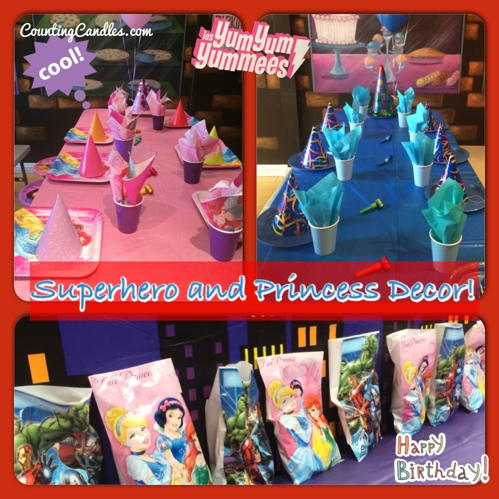 superhero and princess party  the best day ever