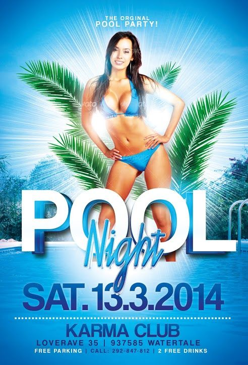 Pool Party Flyer Template - Http://Www.Ffflyer.Com/Pool-Party