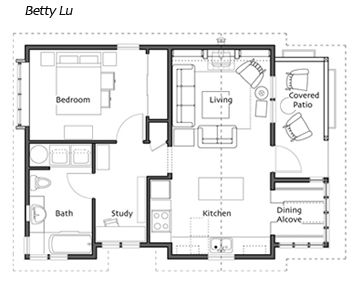 Floor Plan For The Betty Lu Cottage From Small Homes By