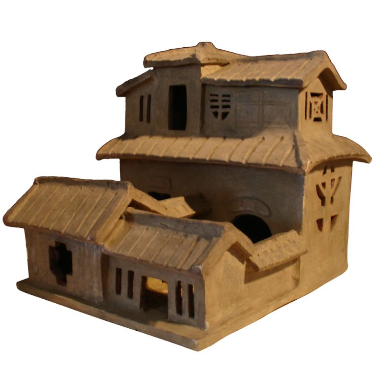 A Han Dynasty Pottery Model Of A House Pottery Ceramic Houses House