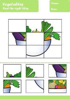 Vegetables Worksheets Age 4-5 in 2020   Preschool ...