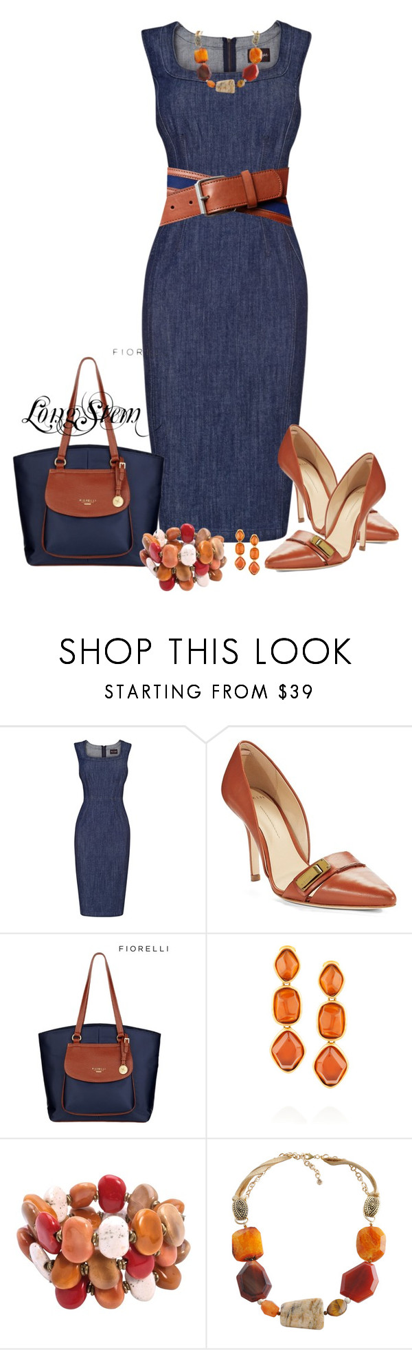 """""""Untitled #587"""" by longstem ❤ liked on Polyvore featuring Phase Eight, 7 Hills, AERIN, Lipsy, Oscar de la Renta, Kazuri and Barse"""