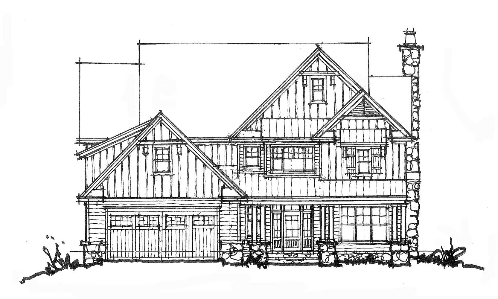 CONCEPTUAL HOUSE PLAN SECOND FLOOR MEDIA SPACE Front - How to check elevation