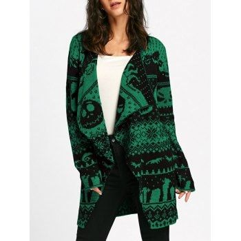 SHARE & Get it FREE | Halloween Skull Knitting Tunic CardiganFor Fashion Lovers only:80,000+ Items·FREE SHIPPING Join Dresslily: Get YOUR $50 NOW!