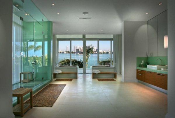 exklusives strandhaus in miami- luxuriöses bad design Wellness - das moderne badezimmer wellness design