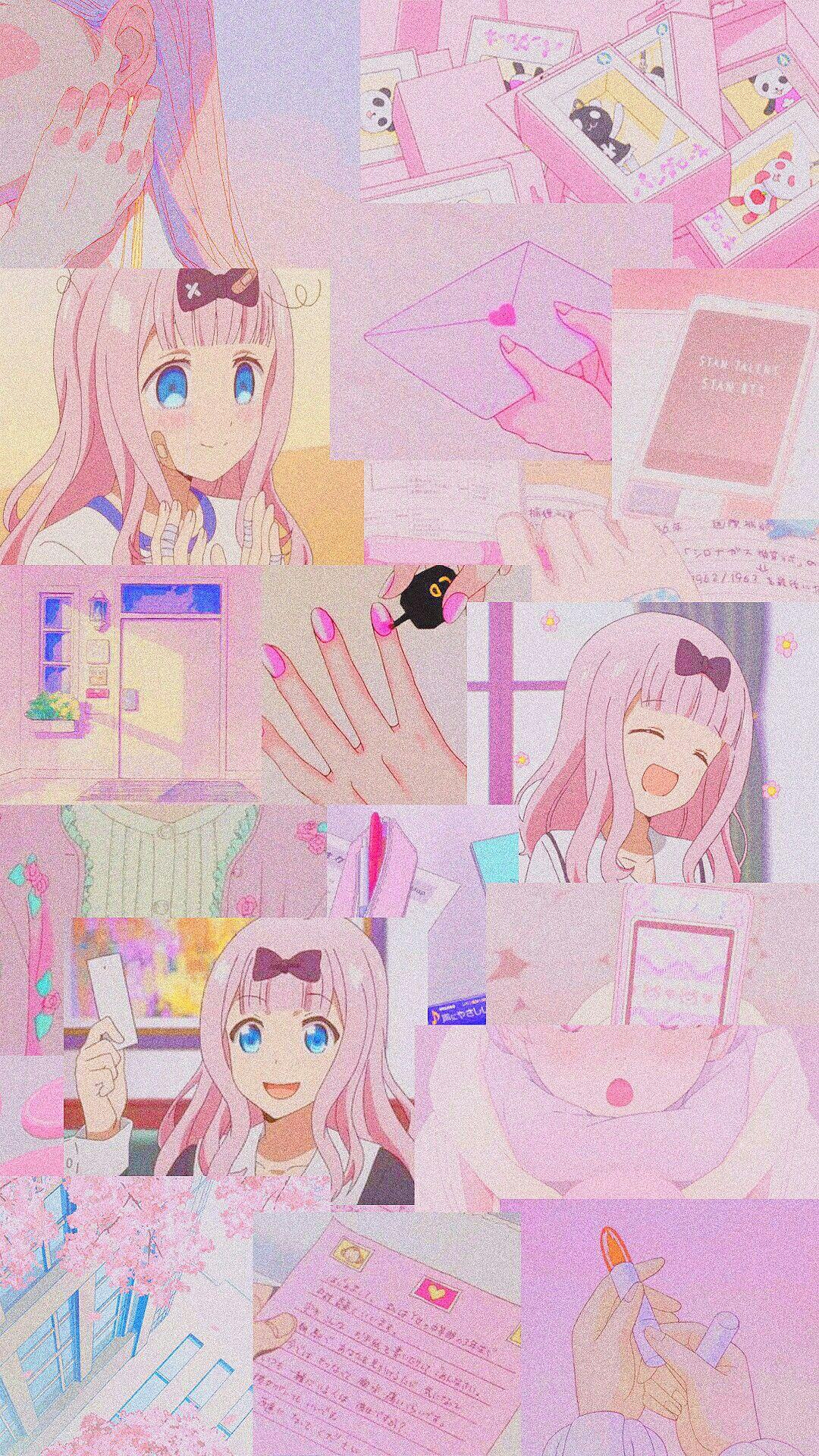 Chika Fujiwara Cute Anime Wallpaper Pink Wallpaper Anime Anime Wallpaper