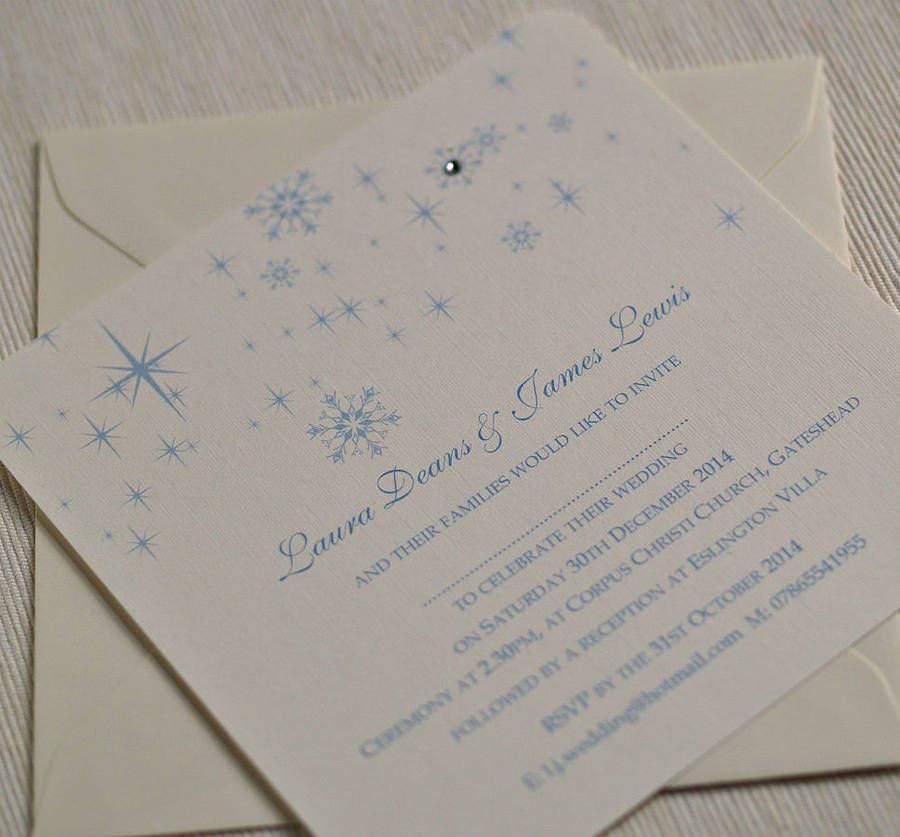 Are You Interested In Our Snowflake Winter Themed Wedding Invitations With Personalised Need Look No Further