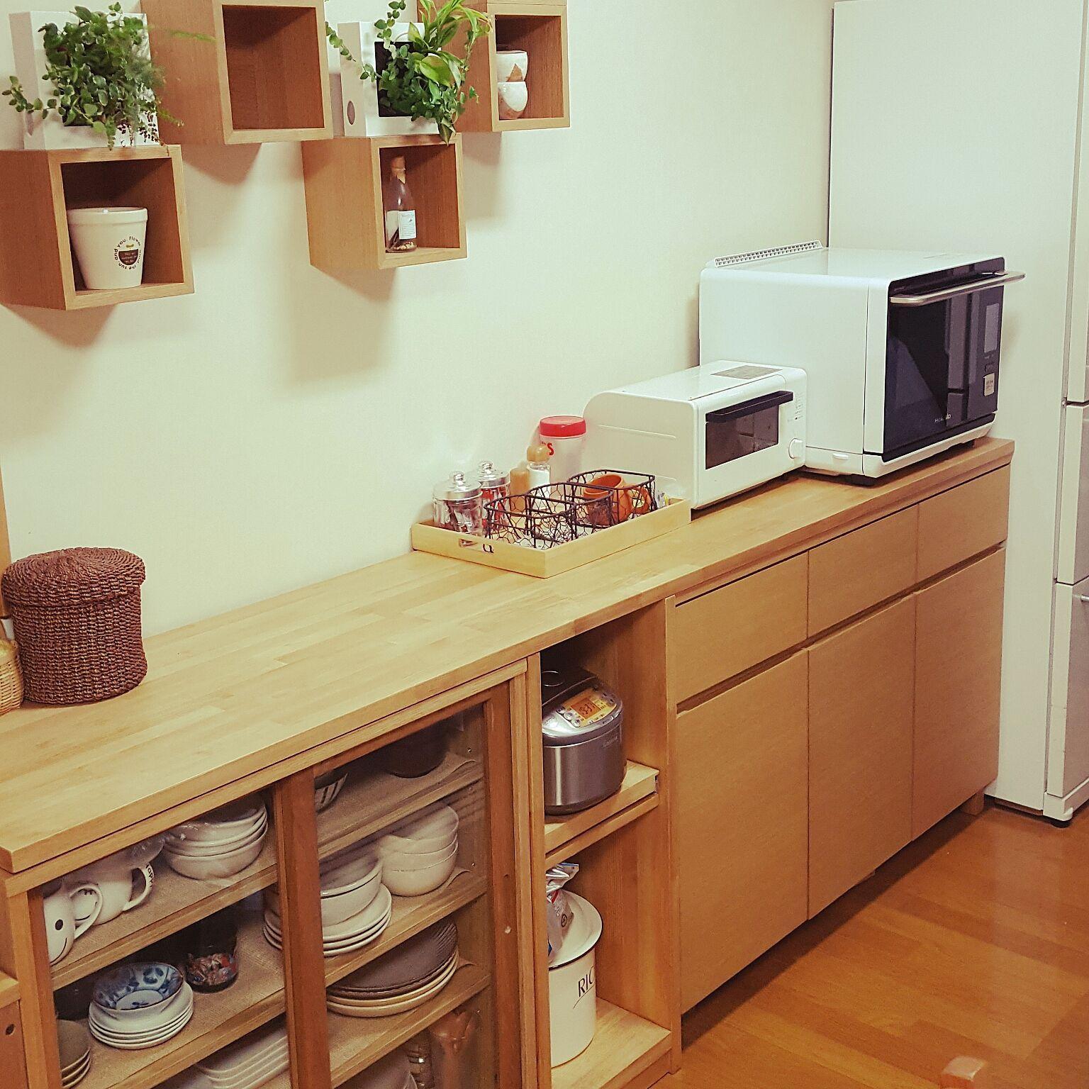 キッチン 無印良品 食器棚 無印良品 壁に付けられる家具 ニトリ などのインテリア実例 2016 09 27 16 37 30 Roomclip ルームクリップ 無印良品 食器棚 キッチンアイデア インテリア 収納