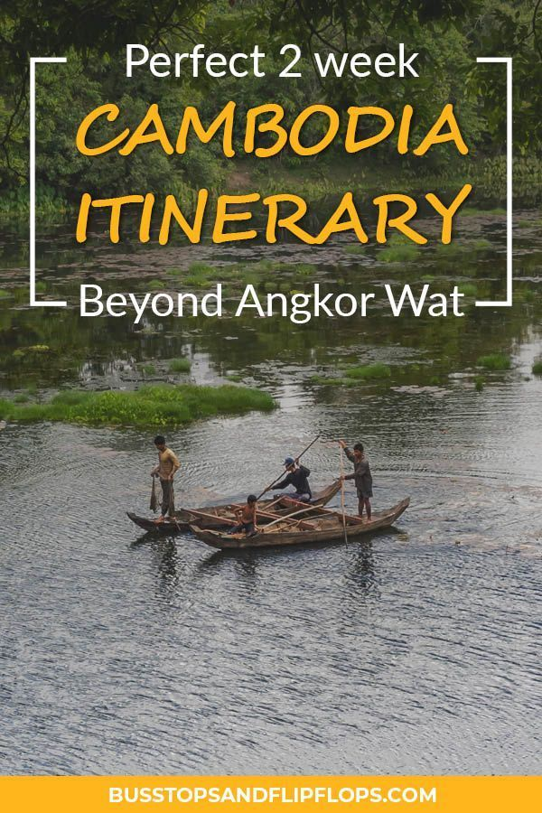 Are you planning on visiting Cambodia and do you want to see more than just Angkor Wat? We've got the perfect 2 week Cambodia itinerary for you! Discover Phnom Penh, Koh Rong Sanloem and Kampot. #cambodiatravel #travelitinerary #traveltips