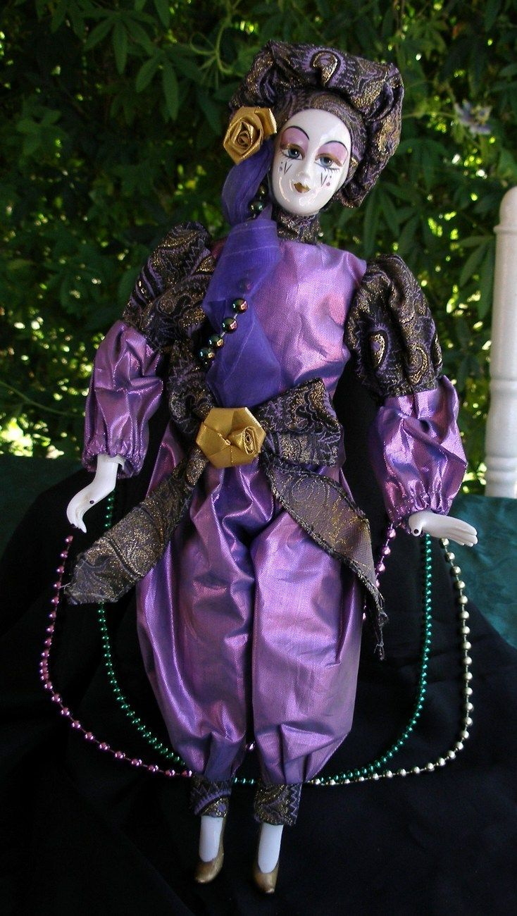 "Harlequin Dolls | Collectible Porcelain Harlequin Jester Doll, 18"" - Other"