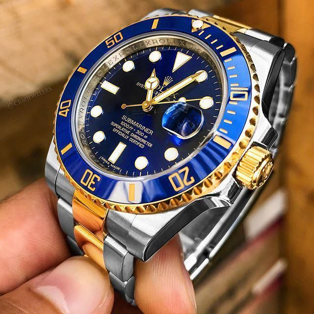 1e7932dd114 CRM Jewelers - Luxury Watches - Miami FL — Rolex 💦Submariner Two-Tone 🔵