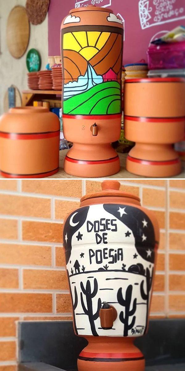 Pin De Mag Charf Em Casinha Pequena Filtro De Barro Decoracao