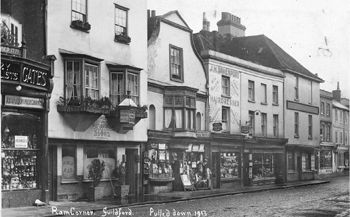 Ram Corner, pulled down in 1913. Photographic Survey and Record of Surrey no. 8870