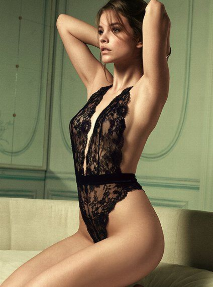 Victoria's Secret Designer Collection Lace Teddy, from their new high-end, luxury lingerie.