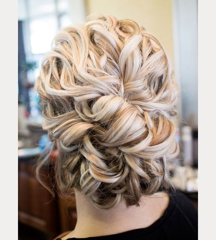 Updo Hairstyles For Curly Hair Wedding: Drop Dead Gorgeous Curly Wedding Updos