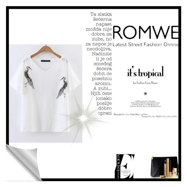 """""""Romwe"""" by merimma-948 ❤ liked on Polyvore featuring Yves Saint Laurent"""