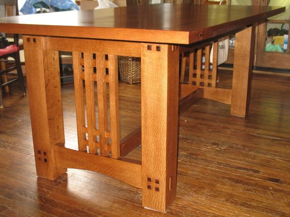 Arts Crafts Dining Table Side View Of The Table Without The