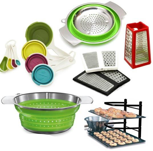 5 Collapsible Foldable And Spacesaving Tools For Small Kitchens Prepossessing Kitchen Items Decorating Inspiration