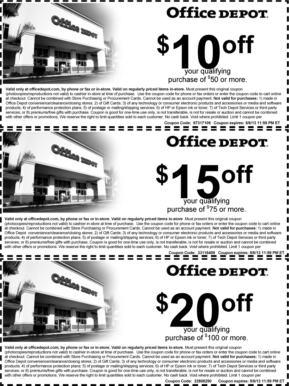 Pinned April 30th 10 off 50 and more at Office Depot