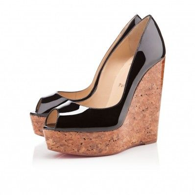 detailed look 20bd8 36300 Christian Louboutin Uue Plume 140mm Wedges Black | Christian ...