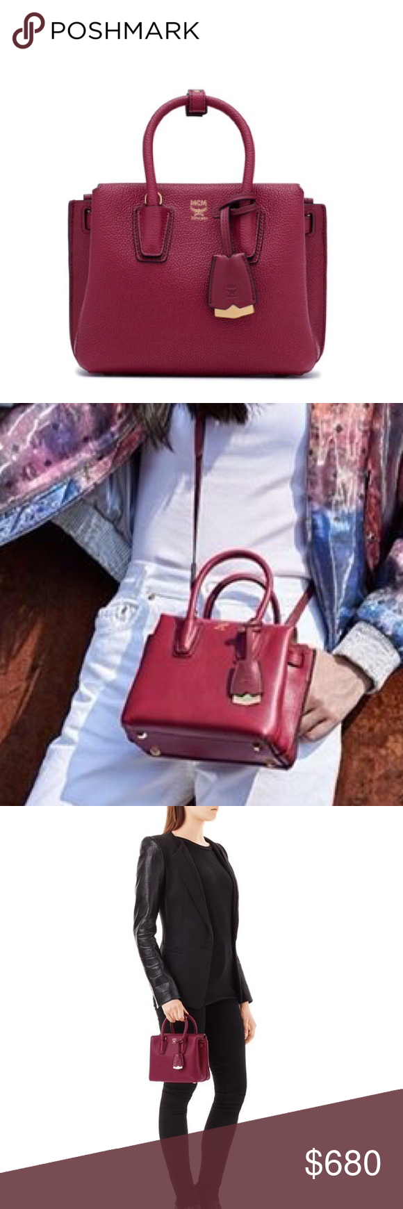 3e99e36e74 MCM mini milla tote Mini Milla Tote in natural grain European Park Avenue  leather 2 top
