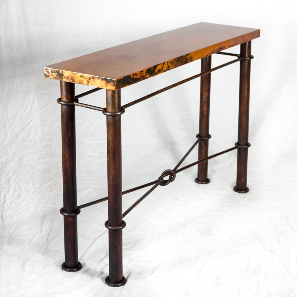 Knots Copper Console Table Natural