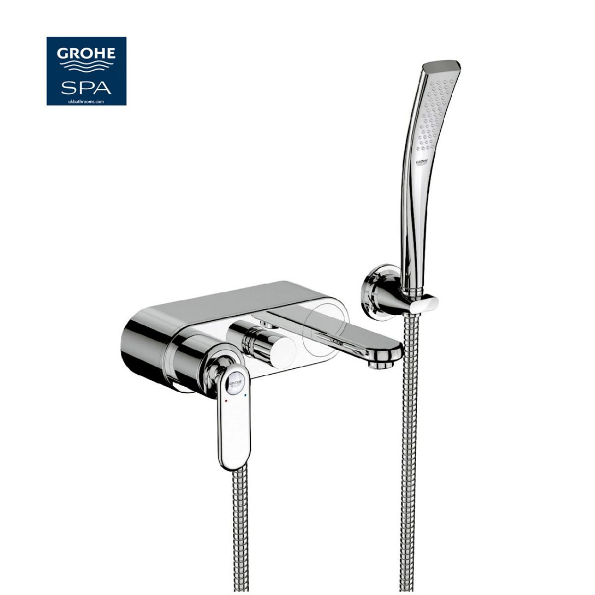 Grohe Veris Wall Mounted Exposed Bath Shower Mixer | Bathroom desire ...