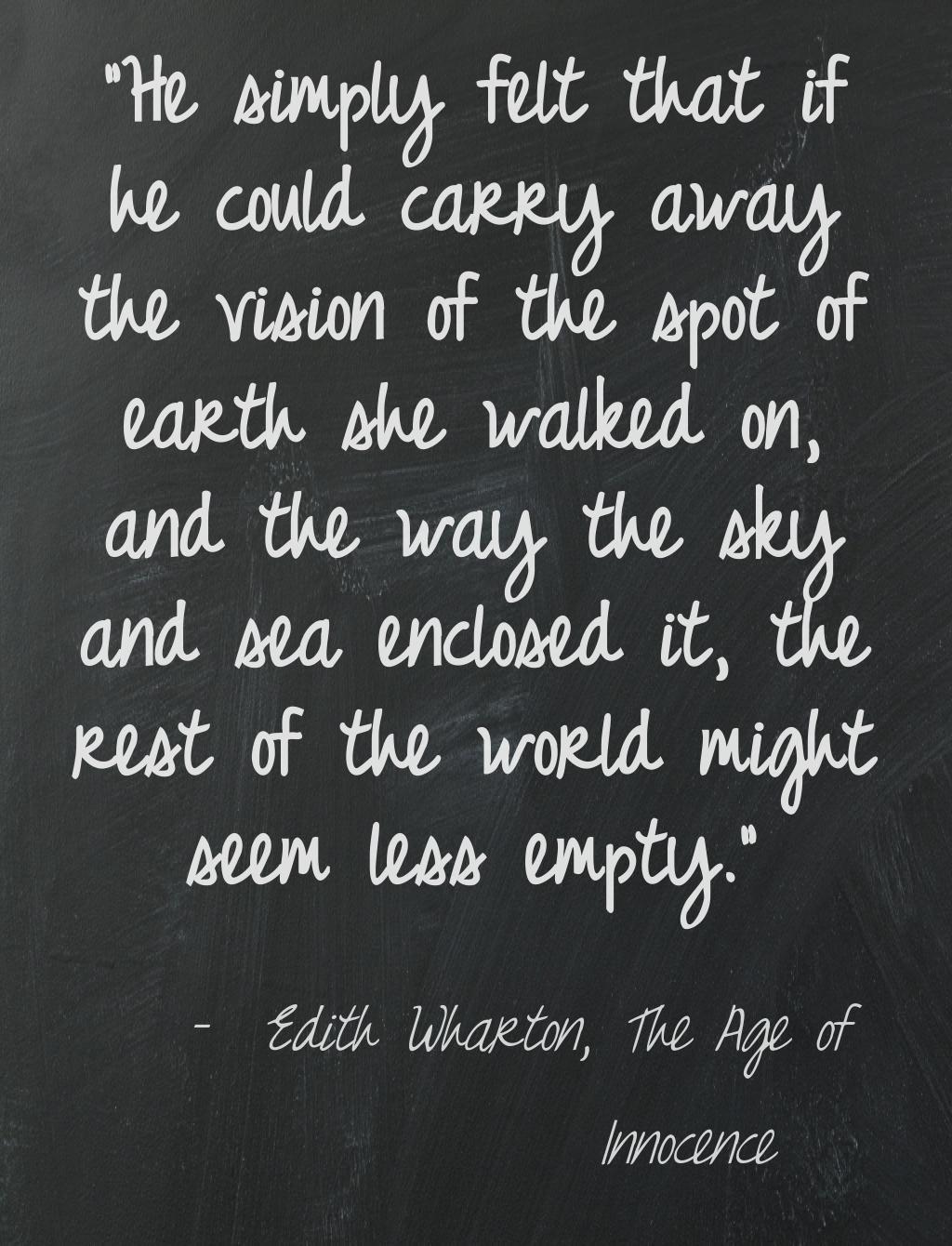 Edith Wharton The Age Of Innocence Textish Literature Quotes